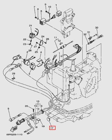 Заглушка для лодочного мотора Т30 Sea-PRO (9-17W)