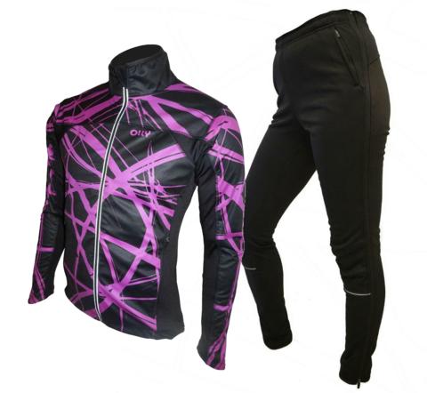 Зимний лыжный разминочный костюм OLLY Bright Sport Crimson purple