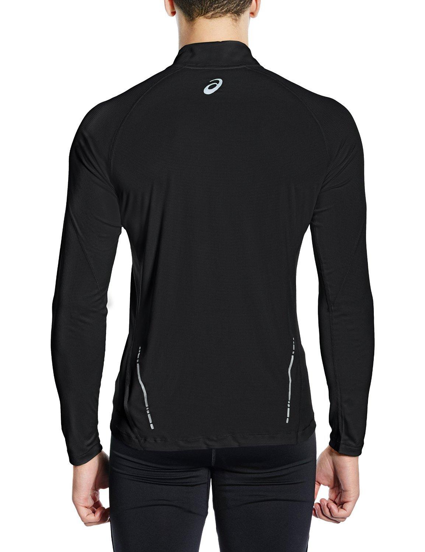 Мужская рубашка для бега асикс LS 1/2 Zip Top (110410 0904) черная