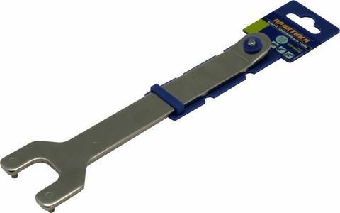 Ключ для планшайб ПРАКТИКА 35 мм, для УШМ, плоский + планшайба  (246-241)
