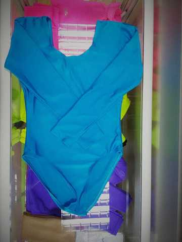 Боди (синее) б/у, рост 122-128 см