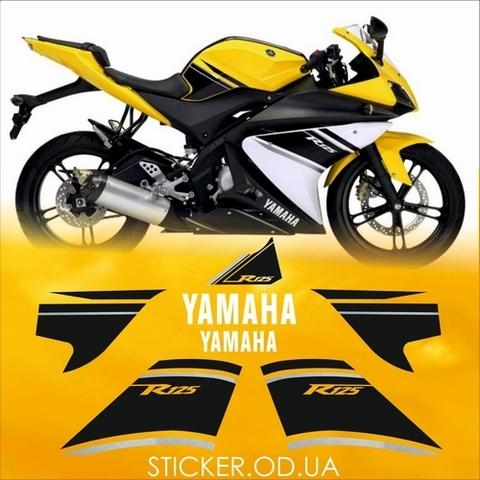 Набор виниловых наклеек на мотоцикл YAMAHA YZF-R125 2009