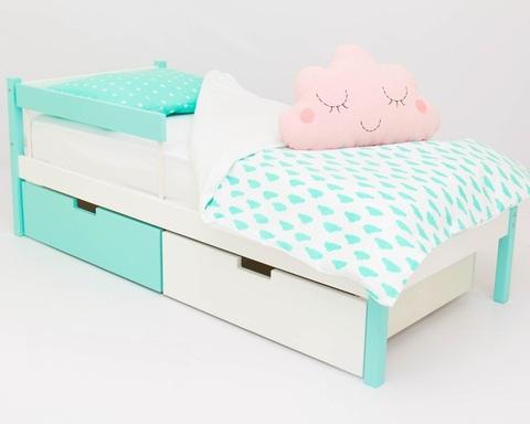 Кровать ФОРЕСТ мятно-белый