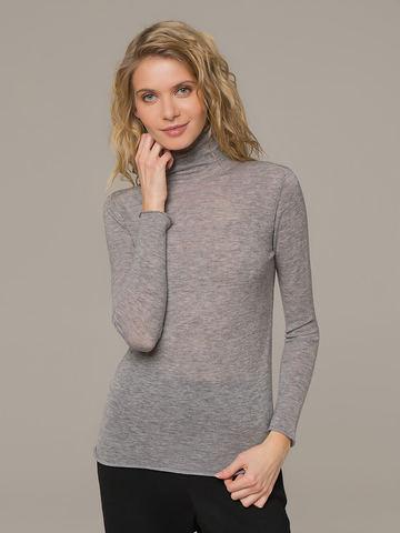 Женский джемпер серого цвета из 100% шерсти - фото 1