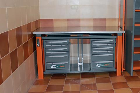 Тумба с 6 выдвижными ящиками для усиленного верстака серии ТВК