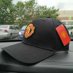 Кепка с вышитым логотипом Манчестер Юнайтед  (Бейсболка Mancester Unayted) черная