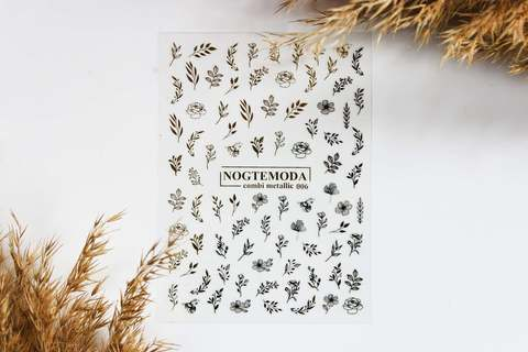 Наклейки Combi Metallic NogteModa №006