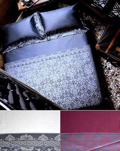 Постельное белье 2 спальное Cassera Casa Perl серое