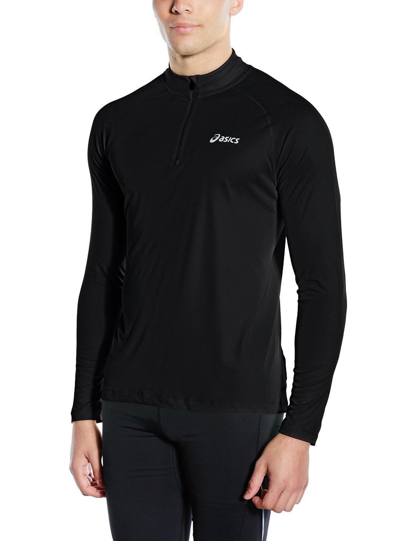 Мужская беговая рубашка Asics LS 1/2 Zip Top (110410 0904) черная