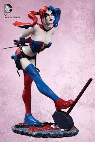 Batman - Cover Girls of the DC Universe: Harley Quinn Statue