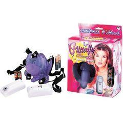 Фиолетовая вибробабочка с фаллосом  BUTTERFLY OBSESSION