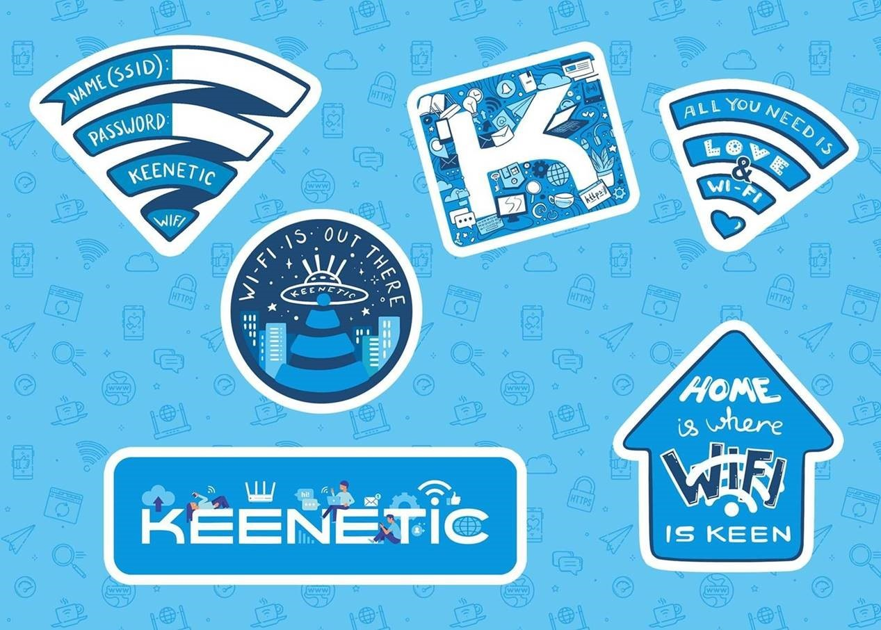 Наклейки Keenetic Wi-Fi mix stickers