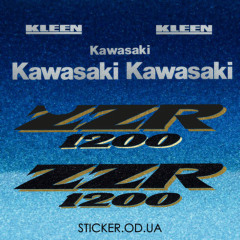 Виниловая наклейка на мотоцикл KAWASAKI ZZR 1200 2003