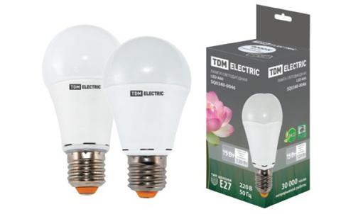 Лампа светодиодная А60 - 15 Вт-220 В -4000 К–E27 TDM