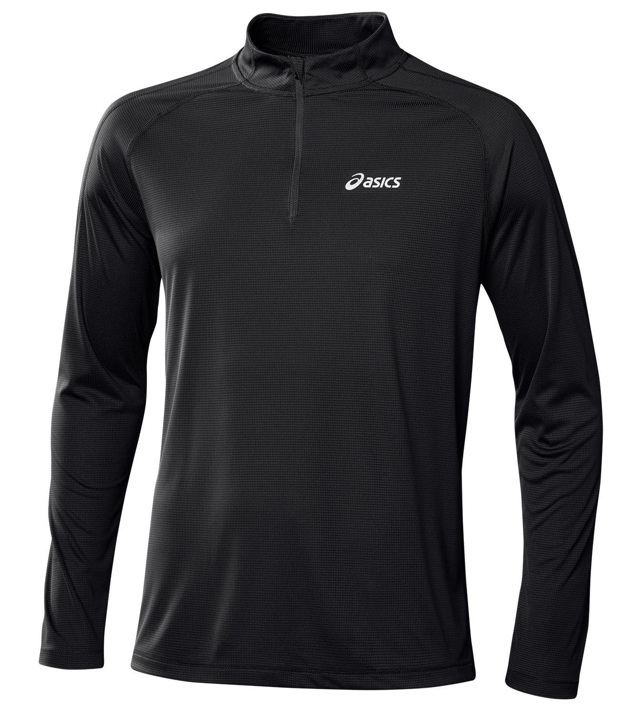 Мужская рубашка для бега Asics LS 1/2 Zip Top (110410 0904) черная