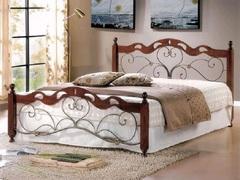 Кровать Хелен 200x160 (Helen MK-5233-RO металл) Темная вишня