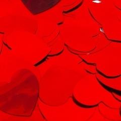 Конфетти фольга, Сердца, красный 50гр.