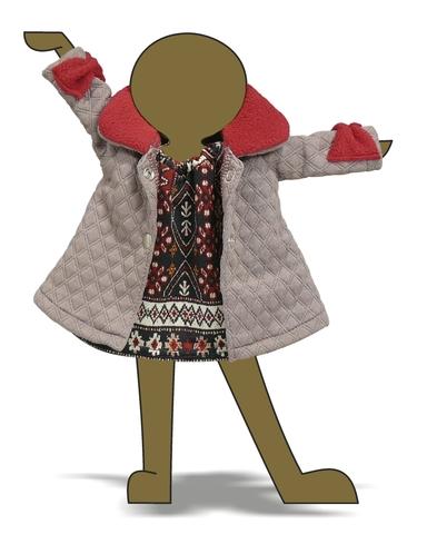 Пальто - Демонстрационный образец. Одежда для кукол, пупсов и мягких игрушек.