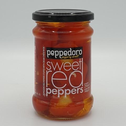 Перец красный сладкий фаршированный сыром peppadoro ROYAL MEDITERRANEAN
