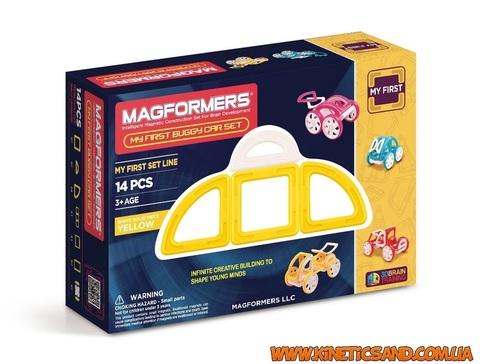 Magformers Мой первый автомобиль Желтый. Магформерс магнитный конструктор