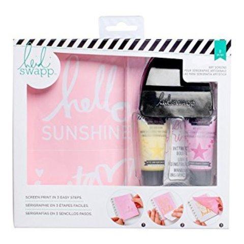 Набор Heidi Swapp Art Screens Print Kit Hello Sunshine для творчества в технике