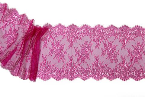 Кружево реснички фиолетовое/розовое (23х300 см)