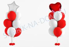 Композиция из Красных шаров