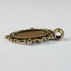 """Сеттинг - основа - подвеска """"Ажурный"""" для камеи или кабошона 18х13 мм (цвет - античная бронза)"""