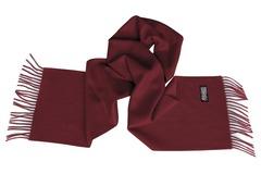 Шерстяной шарф бордовый 00602
