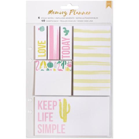Блоки для записи на клеевой основе -American Crafts Memory Planner Sticky Note Pack- 240шт