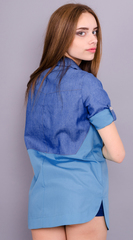 Джаз. Рубашка женская. Голубой.
