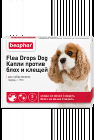 Beaphar капли от блох и клещей для собак мелких пород (до 19 кг)