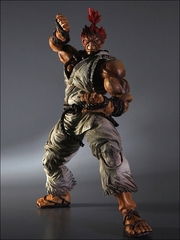 Super Street Fighter IV Play Arts Kai Figure - Akuma White
