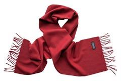 Шерстяной шарф бордовый 00601