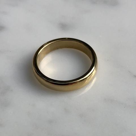 Кольцо Минимализм, позолота