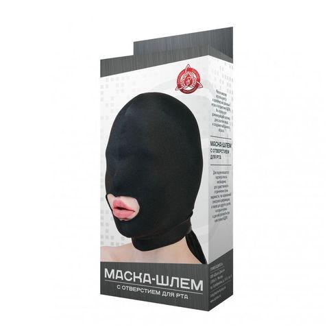 Маска-шлем с отверстием для рта фото