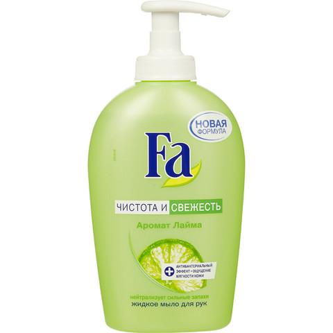 Мыло жидкое FA 250мл антибактериальное Лайм- Имбирь/ Лайм с дозатором