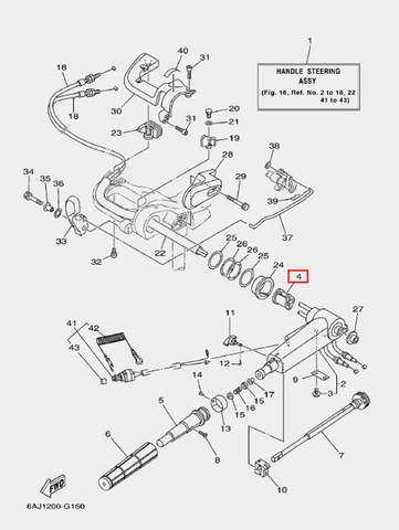 Втулка фиксирующая для лодочного мотора F20 Sea-PRO (16-4)