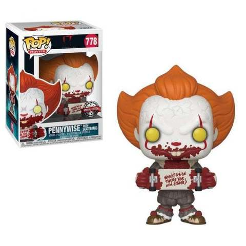 Pennywise With Skate Funko Pop! Special Edition Vinyl Figure || Пеннивайз Со Скейтбордом