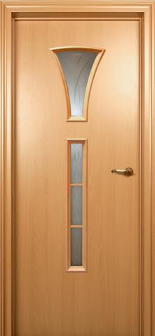 Дверь Краснодеревщик ДО 204, цвет бук, остекленная