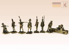 Набор солдатиков Русская Императорская Армия (7 шт.) с пушкой (1812)