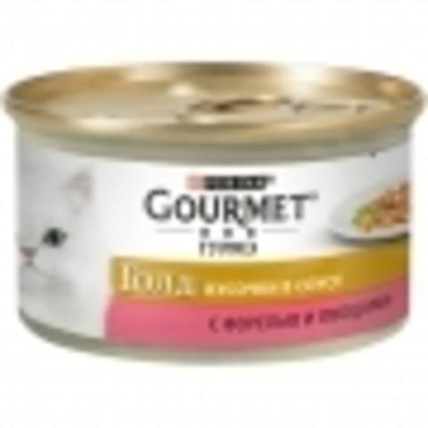 Корм для кошек Gourmet (0.085 кг) 24 шт. Gold Кусочки в соусе с форелью и овощами 1 уп