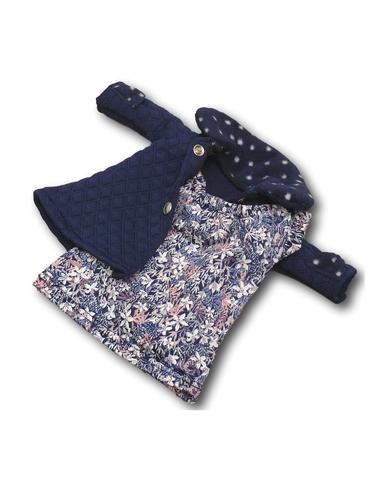 Пальто - Синий. Одежда для кукол, пупсов и мягких игрушек.