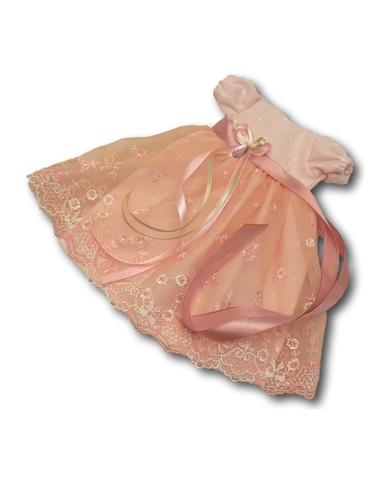 Платье кружевное - Розовый. Одежда для кукол, пупсов и мягких игрушек.