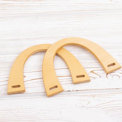 Деревянные ручки для сумки N11 Бежевые