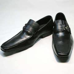 Классические лоферы кожаные мужские Mariner 4901 Black.