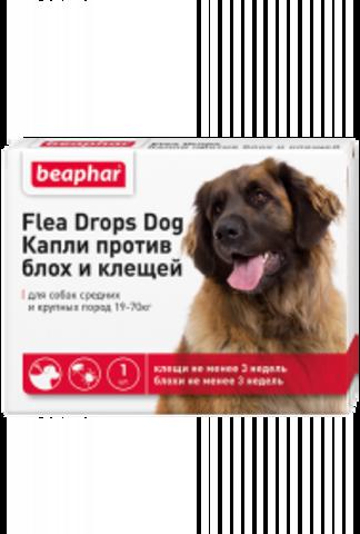 Beaphar Капли от блох и клещей для собак средних и крупных пород (19-70 кг)