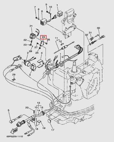 Держатель катушки для лодочного мотора Т30 Sea-PRO (9-24W)