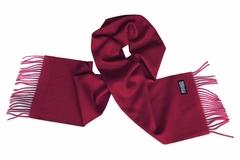 Шерстяной шарф вишневый 00603