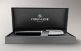 Перьевая ручка Carandache Leman Bicolor Black SP (F) латунь лак посеребрение с родиевым напылением (4799.279)